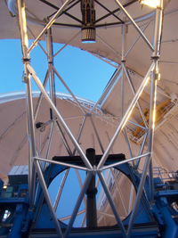 The Gemini Telescopes are located in Hawaii and in Chile. Both telescopes have primary mirrors that are 8 meters in diameter (Photo: Paul Kalas)